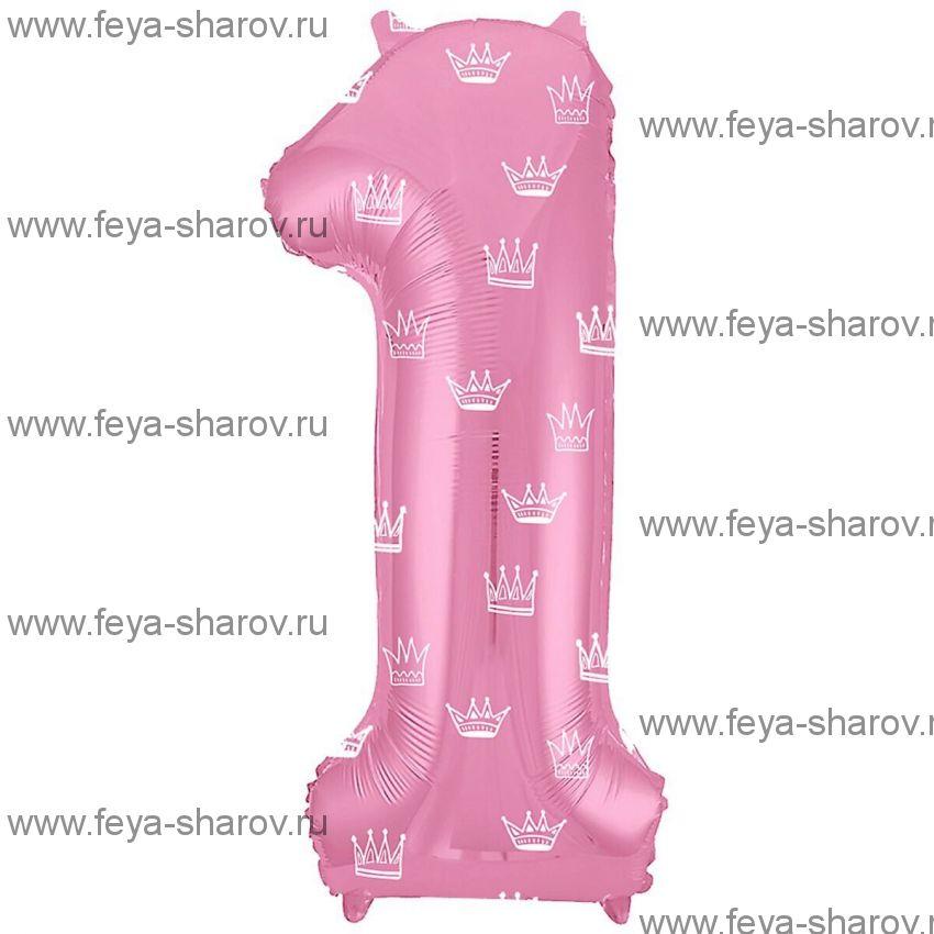 Шар Цифра 102 см Розовый