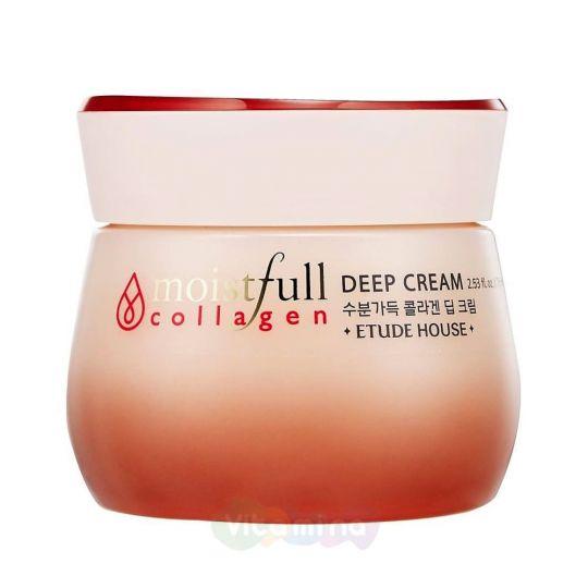 Etude House Глубоко увлажняющий крем с коллагеном Collagen Moistfull Collagen Deep Cream, 75 мл