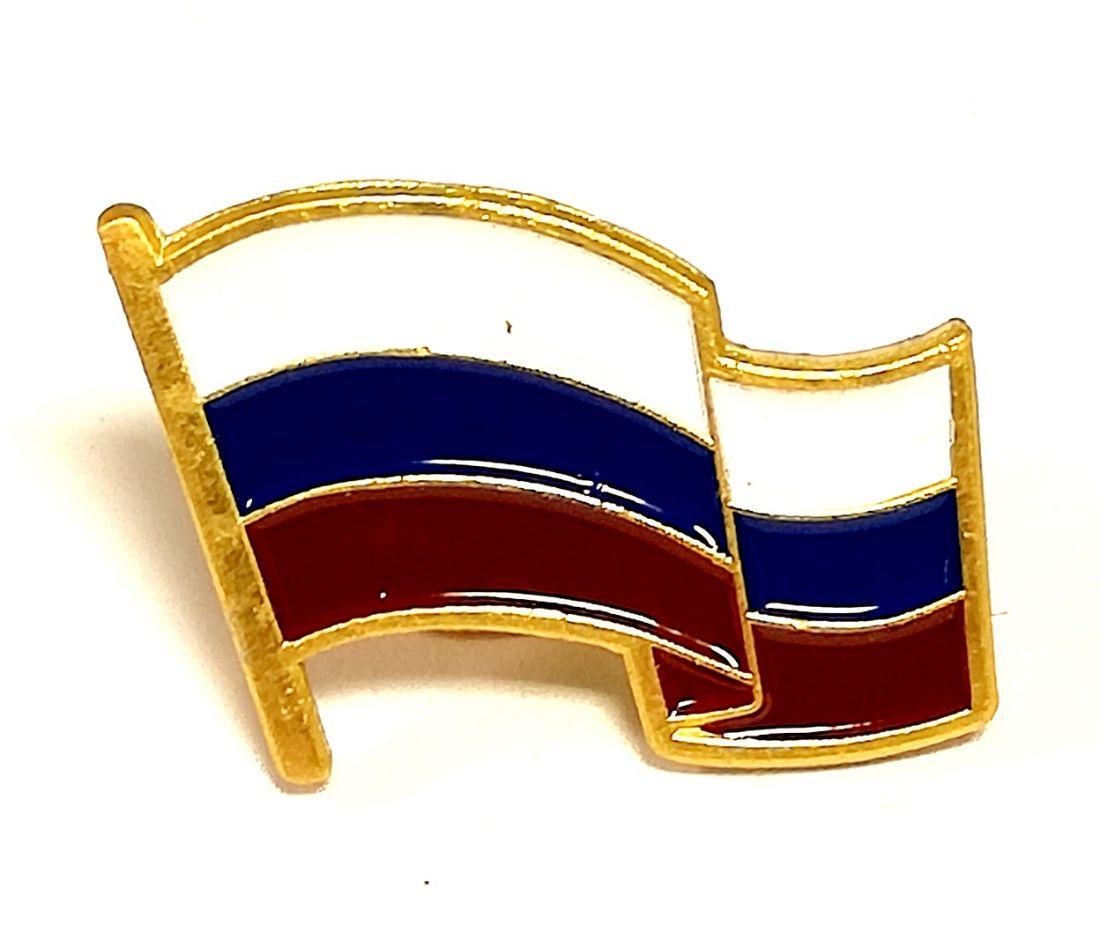 Значок пин флаг России