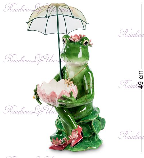 "Фигурка лягушка под зонтом ""Pavone"""