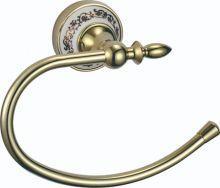 S-06860B SAVOL Durer Полотенцедержатель кольцевой керамический, латунный.Золото