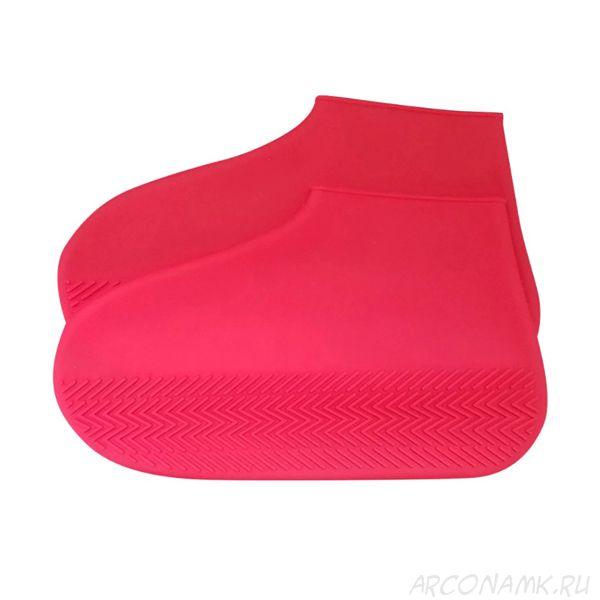Водонепроницаемые защитные чехлы для обуви Waterproof Silicone Shoe Cover, размер S, Цвет: Розовый