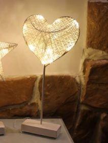 Подсветка ночник новогоднее украшение с огнями Сердце