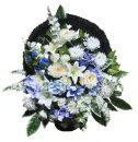 Ритуальная корзина из искусственных цветов N22, РАЗМЕР 60см, 80см,90 см