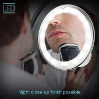 Косметическое зеркало на вакуумной присоске и подсветкой My Fold Jin Ge Mirror (1)