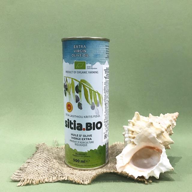 Масло оливковое первого холодного отжима SITIA BIO 500 мл