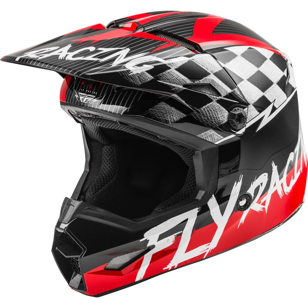 Fly Racing - 2020 Kinetic Sketch Youth Red/Black/Grey шлем подростковый, красно-черно-серый