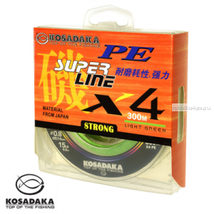 Шнур Kosadaka Super Line PE X4 300 м / цвет: Light Green