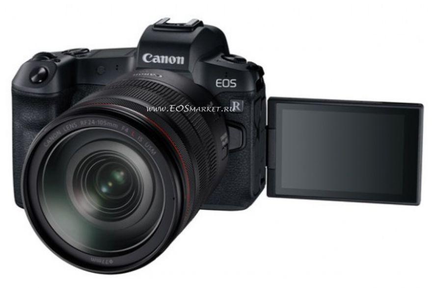 Canon EOS RP kit RF 24-105mm f/4 с адаптером EF-EOS R