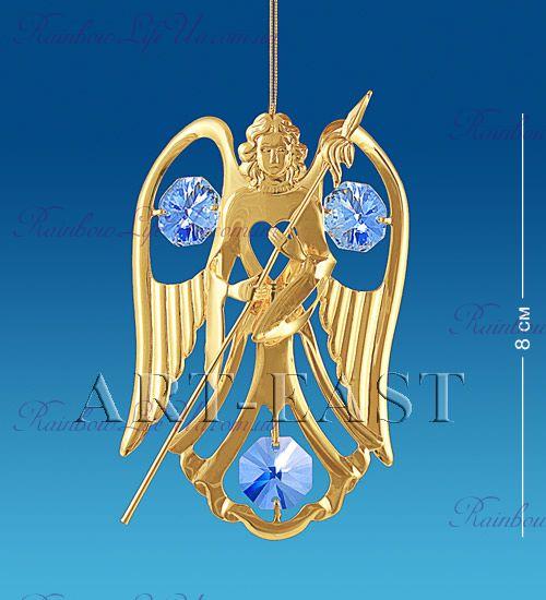 "Подвеска Ангел с флагом с камнями ""Swarovski"""