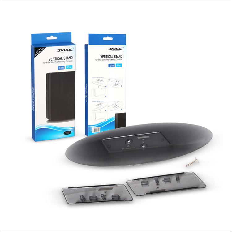 Вертикальная подставка для Sony Playstation 4 PS4 SLIM & PRO STAND VERTICAL TRANSPARENT (Прозрачный) DOBE TP4-825