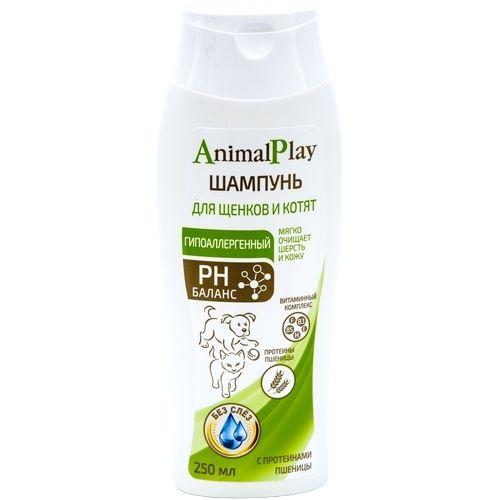 Шампунь Энимал Плэй  д/щенков и котят Гипоаллергенный с протеинами пшеницы и витаминами 250мл