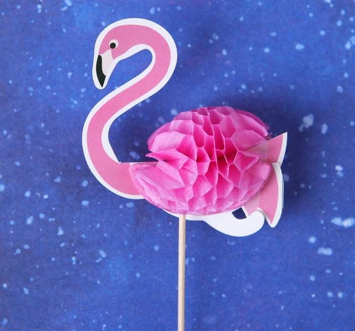 Пики для декора Фламинго