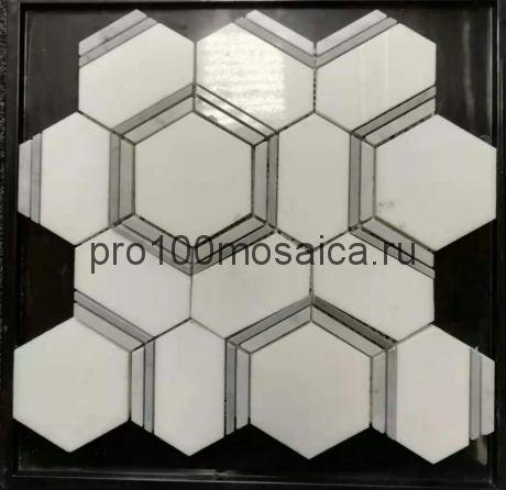 KA121 Мозаика серия Камень размер чипа 85*72, 84*32, мм: 305*285*8 (Happy Mosaic)