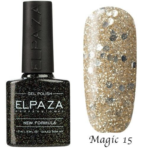Гель лак ELPAZA MAGIC GLITTER 10 мл  ГАЗИРОВКА 15