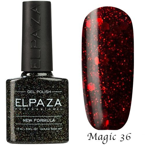 Гель лак ELPAZA MAGIC GLITTER 10 мл МАРС 36
