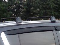 Багажник на крышу Kia Sportage 3, Turtle Air 2, аэродинамические дуги на интегрированные рейлинги (черный цвет)