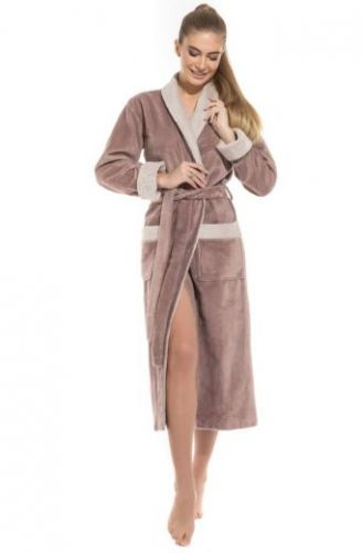 Женский махровый халат Belette капучино