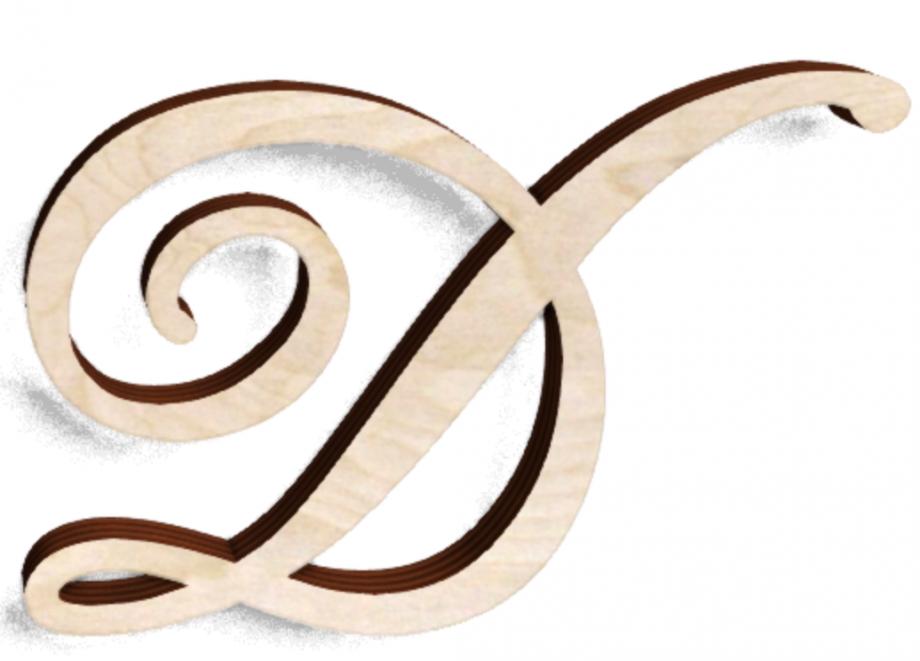 Деревянная буква Д