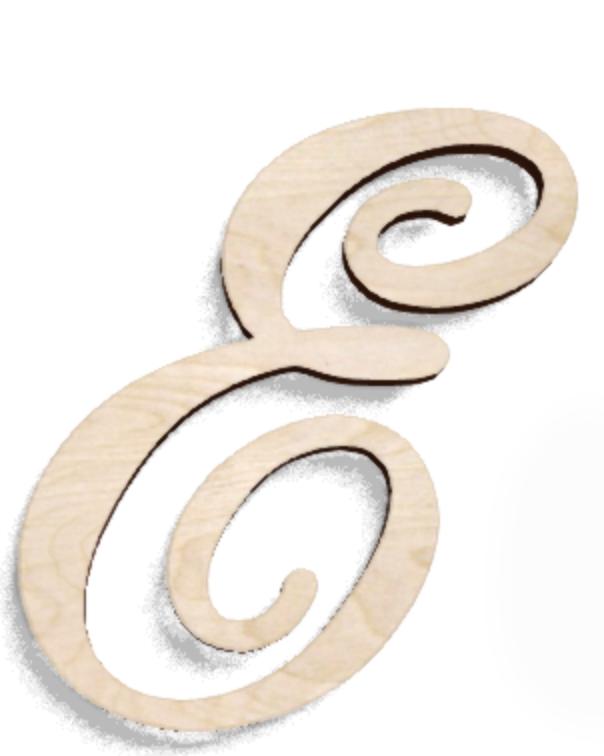 Деревянная буква Е