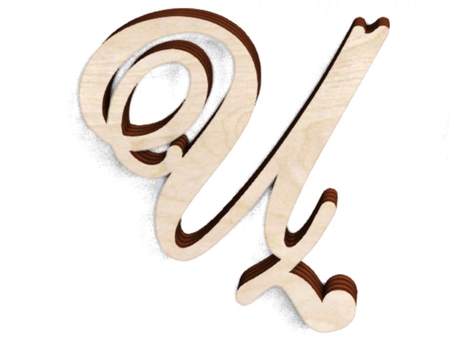Деревянная буква Ц