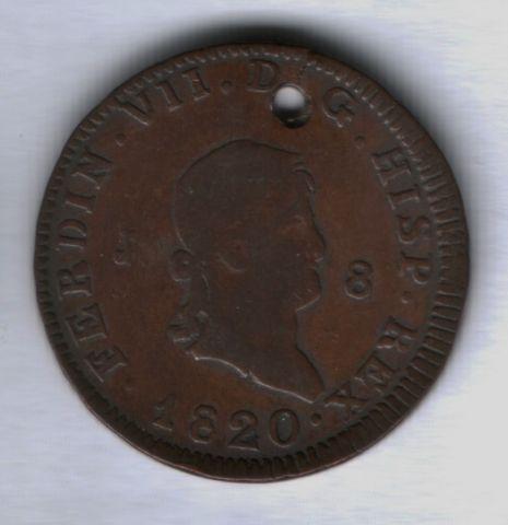 8 мараведи 1820 года Испания