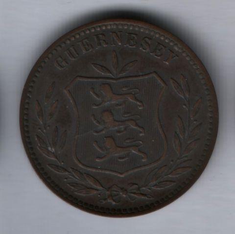 8 дублей 1910 года Гернси