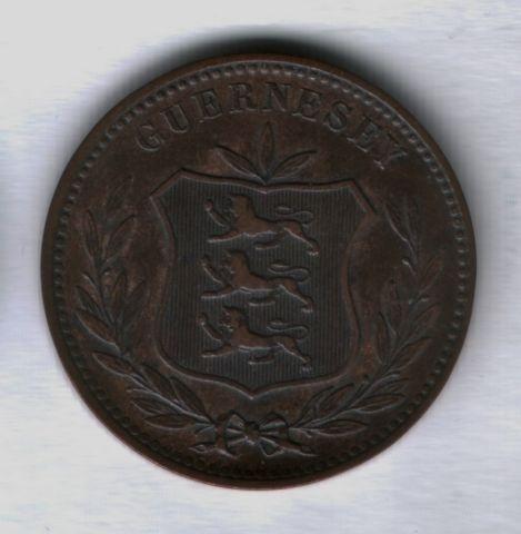 8 дублей 1889 года Гернси