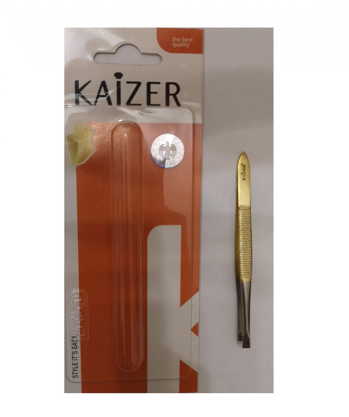 Пинцет для бровей KAIZER 9,3 см