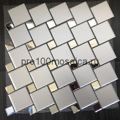 MS50 Серебряное зеркало+MAT. Мозаика зеркальная серия VANTAGGIO, 300*300*4 мм (VIVERE)