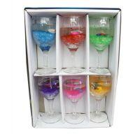 Свеча в бокале, гелевая, 5х14 см, 6 шт