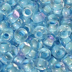 Бисер чешский 58532 прозрачный нежно-голубая линия внутри Preciosa 1 сорт