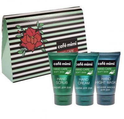Кафе Красоты Подарочный набор Нежная кожа: Скраб для рук 50 мл + Крем для рук 50 мл + Крем-маска для рук 50 мл