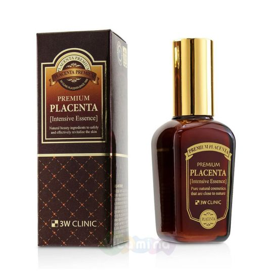 3W CLINIC Омолаживающая эссенция для лица с экстрактом плаценты Premium Placenta Intensive Essence, 50 мл