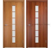 """""""С-12 Вертикаль"""" ДО ламинированная дверь со стеклом"""