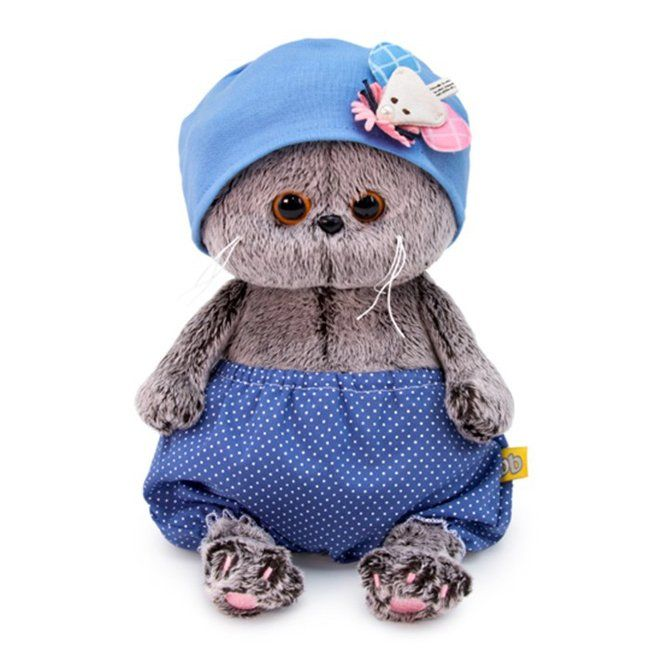 Кот Басик BABY в шапочке с мышкой ВВ-047