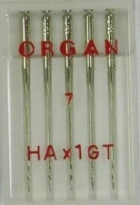 Иглы ORGAN для шёлка №55 (5шт.)