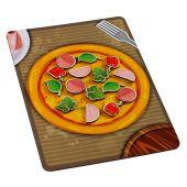 Липучка пицца с колбасой