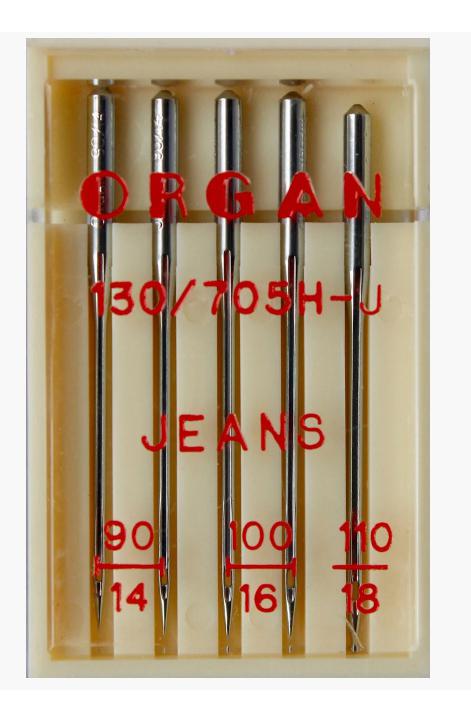 Иглы ORGAN джинс, набор №90-110 (5шт.)