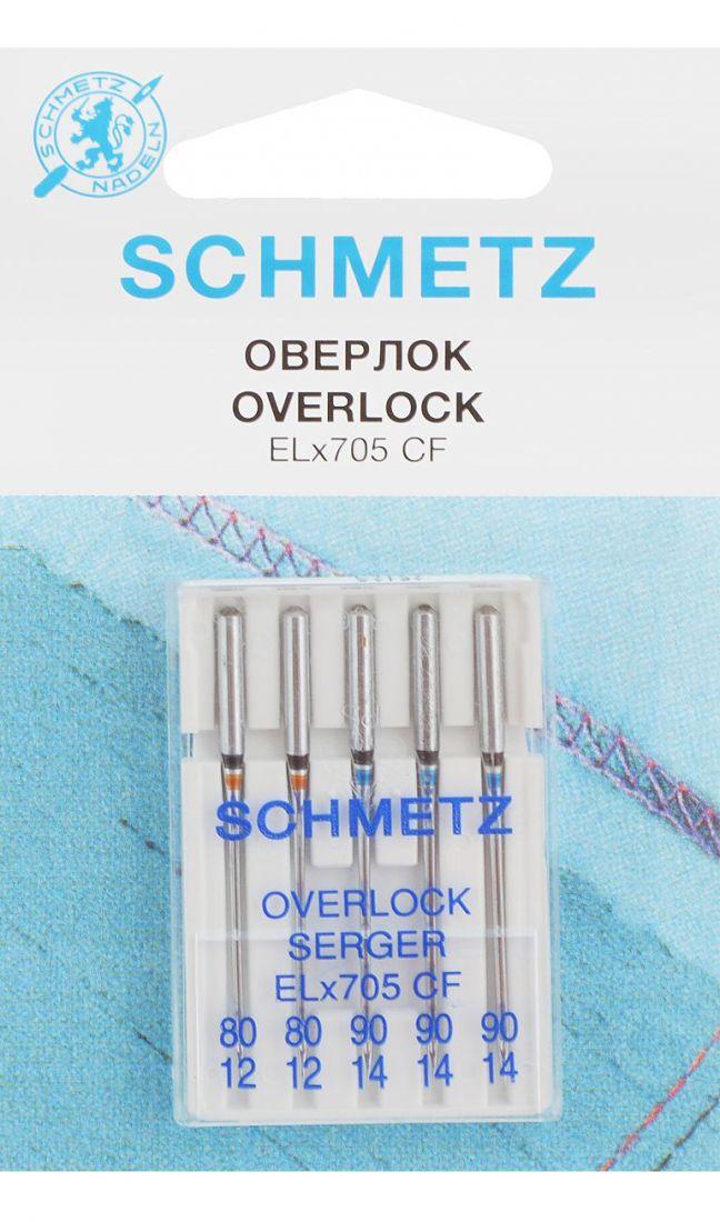 Иглы Schmetz для плоскошовных машин, набор №80-90 (5шт.)