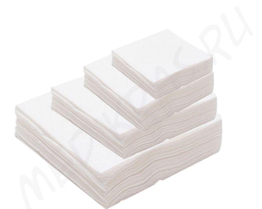 Салфетки одноразовые впитывающие 10х10 см №100 СПАНЛЕЙС в упаковке Лейко