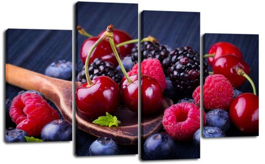 Модульная картина Фруктовый десерт