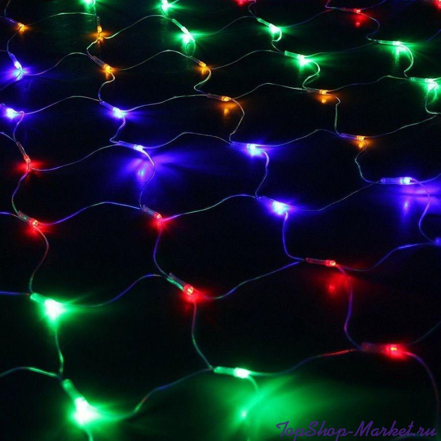 Электрогирлянда Сетка 500 LED, 3х2 м, Разноцветный
