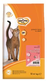 Мнямс Skin&Coat Сухой корм с лососем для взрослых кошек для кожи и шерсти 10 кг