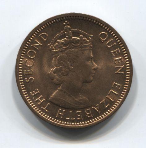 2 цента 1959 года Маврикий UNC