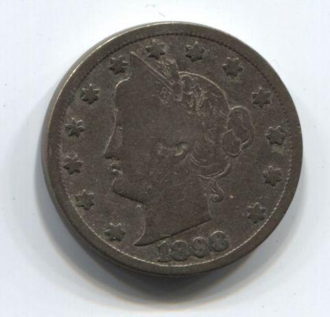 5 центов 1898 года США