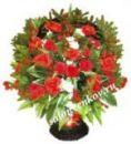 Ритуальная корзина из искусственных цветов N26, РАЗМЕР 60см, 80см,90 см