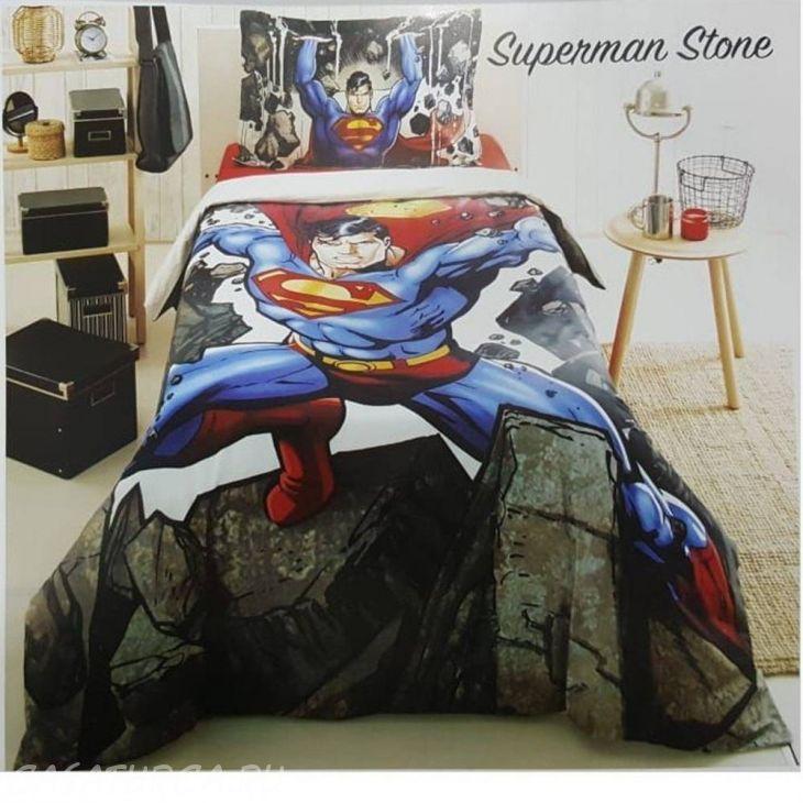 Постельное белье OZDILEK Ранфорс 160X220 SUPERMAN GRI STONE