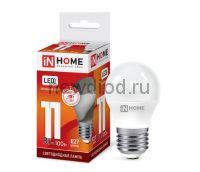 Лампа светодиодная LED-ШАР-VC 11Вт 230В Е27 6500К 820Лм IN HOME