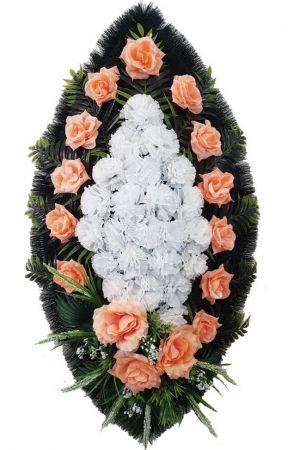 Траурный венок из искусственных цветов - Классика #10